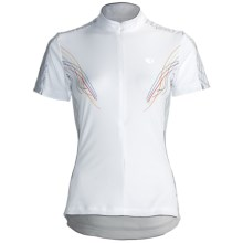 Pearl Izumi Select Print Cycling Jersey - Zip Neck, Short Sleeve (For Women) in White Pinstripe - Closeouts