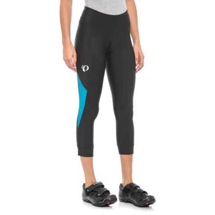 Pearl Izumi SELECT Pursuit 3/4 Cycling Tights - UPF 50+ (For Women) in Black/Atomic Blue - Closeouts