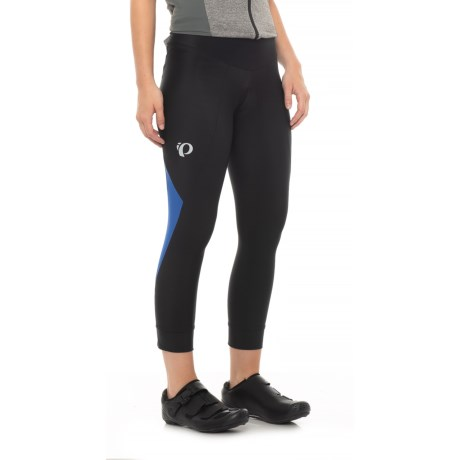 Pearl Izumi SELECT Pursuit 3/4 Cycling Tights - UPF 50+ (For Women) in Black/Dazzling Blue