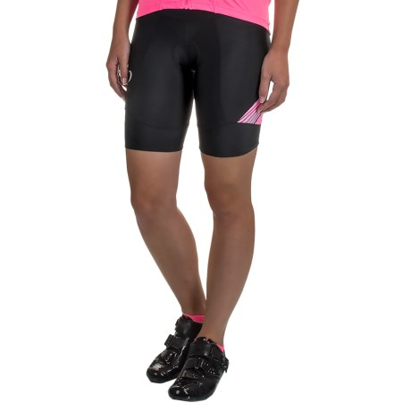 Pearl Izumi SELECT Pursuit Bike Shorts - UPF 50+ (For Women) in Black / Screaming Pink Whirl