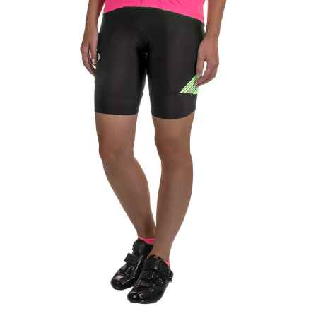 Pearl Izumi SELECT Pursuit Bike Shorts - UPF 50+ (For Women) in Black / Screaming Yellow Whirl - Closeouts