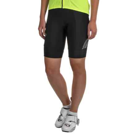 Pearl Izumi SELECT Pursuit Bike Shorts - UPF 50+ (For Women) in Black / Smoked Pearl Whirl - Closeouts