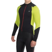 Pearl Izumi SELECT Pursuit Cycling Jersey - Full Zip, Long Sleeve (For Men) in Black/Lime Punch - Closeouts
