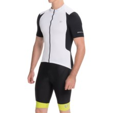 Pearl Izumi SELECT Pursuit Cycling Jersey - UPF 50+, Full Zip, Short Sleeve (For Men) in White/Black - Closeouts