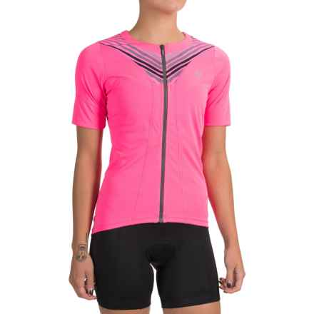 Pearl Izumi SELECT Pursuit Cycling Jersey - UPF 50+, Full Zip, Short Sleeve (For Women) in Screaming Pink Whirl - Closeouts