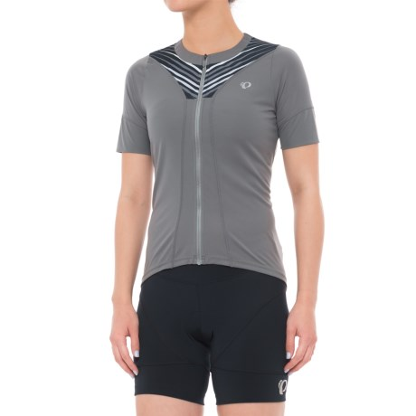 Pearl Izumi SELECT Pursuit Cycling Jersey - UPF 50+, Full Zip, Short Sleeve (For Women) in Smoked Pearl Whirl
