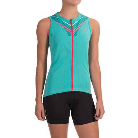 Pearl Izumi SELECT Pursuit Cycling Jersey - UPF 50+, Full Zip, Sleeveless (For Women) in Atlantis Whirl - Closeouts