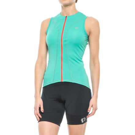 Pearl Izumi SELECT Pursuit Cycling Jersey - UPF 50+, Full Zip, Sleeveless (For Women) in Atlantis - Closeouts