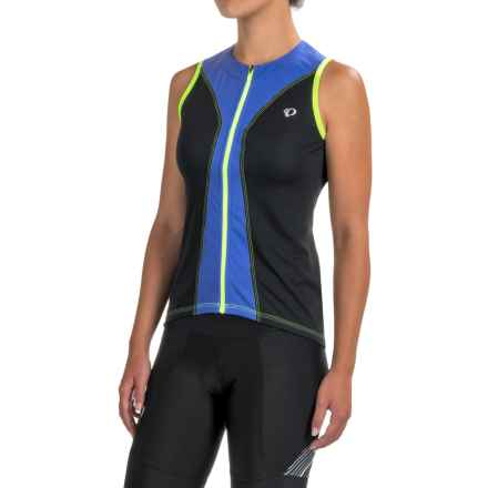Pearl Izumi SELECT Pursuit Cycling Jersey - UPF 50+, Full Zip, Sleeveless (For Women) in Black/Dazzling Blue - Closeouts