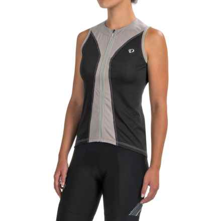 Pearl Izumi SELECT Pursuit Cycling Jersey - UPF 50+, Full Zip, Sleeveless (For Women) in Black/Smoked Pearl - Closeouts
