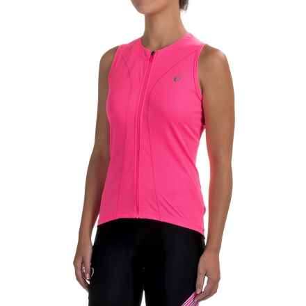 Pearl Izumi SELECT Pursuit Cycling Jersey - UPF 50+, Full Zip, Sleeveless (For Women) in Screaming Pink - Closeouts