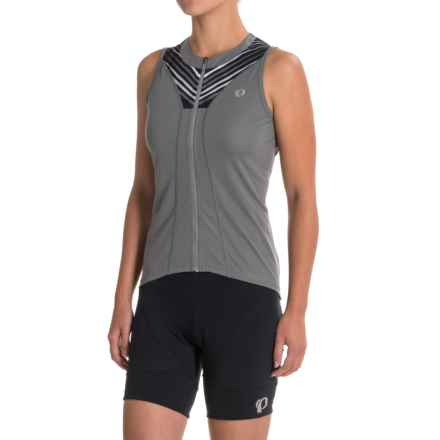 Pearl Izumi SELECT Pursuit Cycling Jersey - UPF 50+, Full Zip, Sleeveless (For Women) in Smoked Pearl Whirl - Closeouts