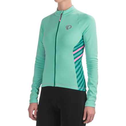 Pearl Izumi SELECT Pursuit Thermal Cycling Jersey - Long Sleeve (For Women) in Aqua Mint Stripe - Closeouts