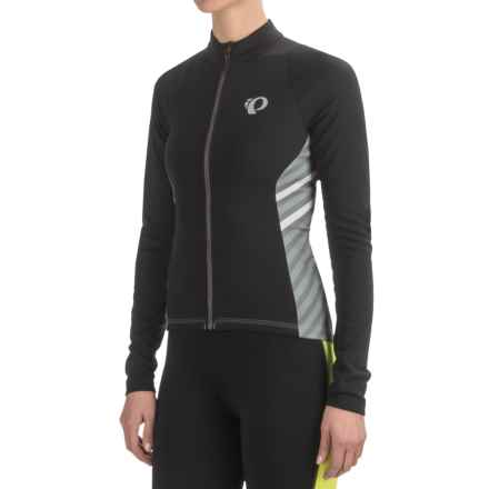 Pearl Izumi SELECT Pursuit Thermal Cycling Jersey - Long Sleeve (For Women) in Black Stripe - Closeouts