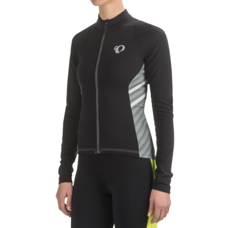 Pearl Izumi SELECT Pursuit Thermal Cycling Jersey - Long Sleeve (For Women) in Black Stripe
