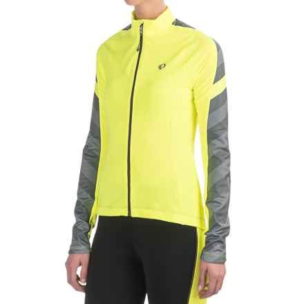 Pearl Izumi SELECT Pursuit Thermal Cycling Jersey - Long Sleeve (For Women) in Screaming Yellow Stripe - Closeouts