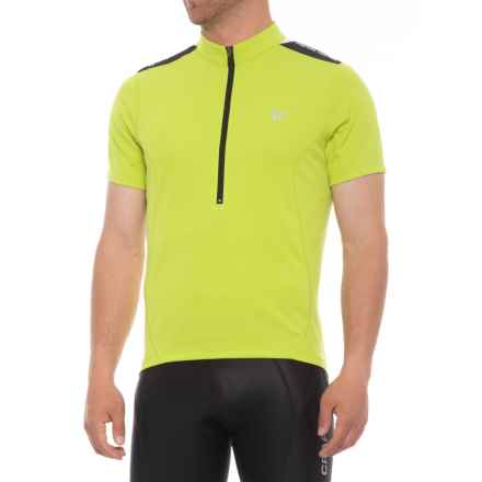 Pearl Izumi SELECT Quest Cycling Jersey - Zip Neck, Short Sleeve (For Men) in Citron - Closeouts