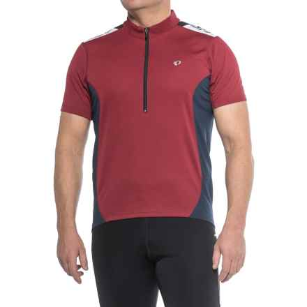 Pearl Izumi SELECT Quest Cycling Jersey - Zip Neck, Short Sleeve (For Men) in Tibetan Red / Eclipse Blue - Closeouts