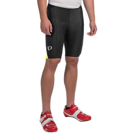 Pearl Izumi SELECT Quest Splice Bike Shorts (For Men) in Black/Screaming Yellow - Closeouts
