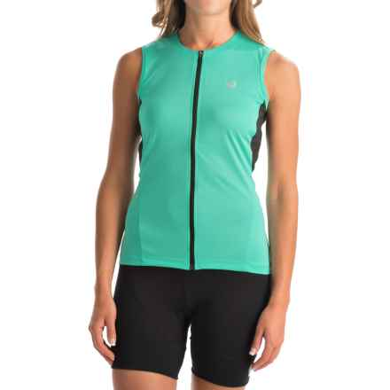 Pearl Izumi SELECT SL Cycling Jersey - UPF 50+, Full Zip, Sleeveless (For Women) in Aqua Mint - Closeouts