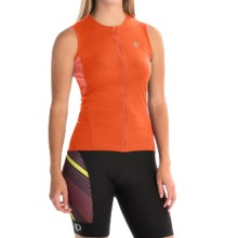 Pearl Izumi SELECT SL Cycling Jersey - UPF 50+, Full Zip, Sleeveless (For Women) in Mandarin Red - Closeouts