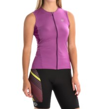 Pearl Izumi SELECT SL Cycling Jersey - UPF 50+, Full Zip, Sleeveless (For Women) in Meadow Mauve - Closeouts