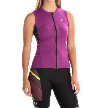 Pearl Izumi SELECT SL Cycling Jersey - UPF 50+, Full Zip, Sleeveless (For Women) in Purple Wine - Closeouts