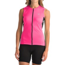Pearl Izumi SELECT SL Cycling Jersey - UPF 50+, Full Zip, Sleeveless (For Women) in Screaming Pink - Closeouts
