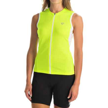 Pearl Izumi SELECT SL Cycling Jersey - UPF 50+, Full Zip, Sleeveless (For Women) in Screaming Yellow - Closeouts