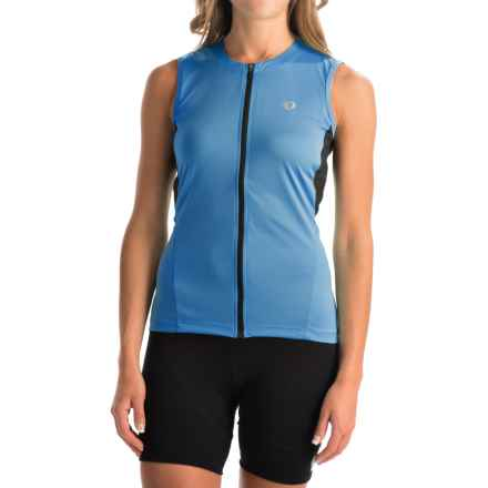 Pearl Izumi SELECT SL Cycling Jersey - UPF 50+, Full Zip, Sleeveless (For Women) in Sky Blue - Closeouts