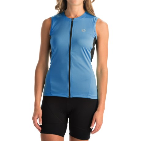 Pearl Izumi SELECT SL Cycling Jersey - UPF 50+, Full Zip, Sleeveless (For Women) in Sky Blue