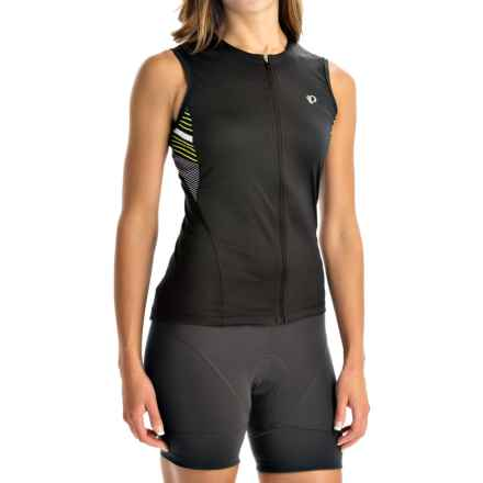 Pearl Izumi SELECT SL Print Cycling Jersey - UPF 50+, Full Zip, Sleeveless (For Women) in Black Stripe - Closeouts
