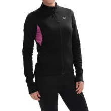 Pearl Izumi SELECT Sugar Print Thermal Cycling Jersey - Full Zip, Long Sleeve (For Women) in Black/Screaming Pink - Closeouts