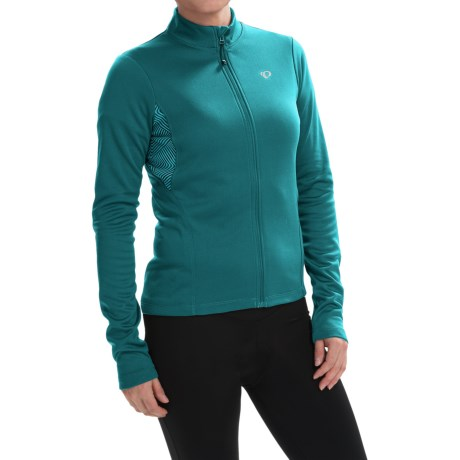 Pearl Izumi SELECT Sugar Print Thermal Cycling Jersey Full Zip, Long Sleeve (For Women)