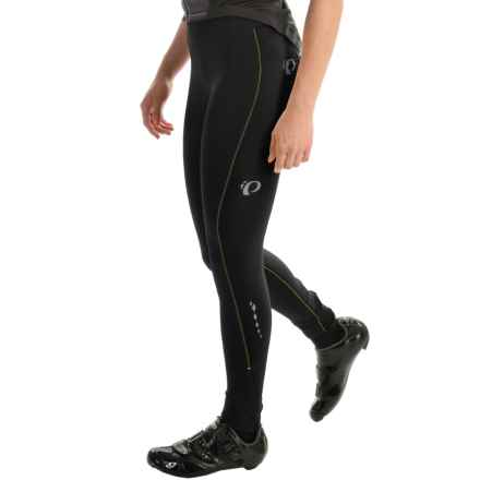 Pearl Izumi SELECT Sugar Thermal Tights (For Women) in Black/Screaming Yellow Stitch - Closeouts
