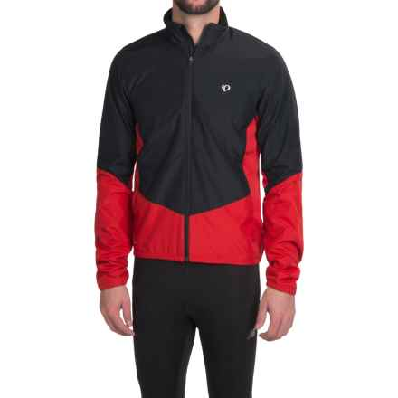 Pearl Izumi SELECT Thermal Barrier Cycling Jacket (For Men) in Black/True Red - Closeouts