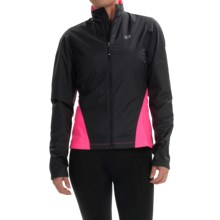Pearl Izumi SELECT Thermal Barrier Cycling Jacket (For Women) in Black/Screaming Pink - Closeouts