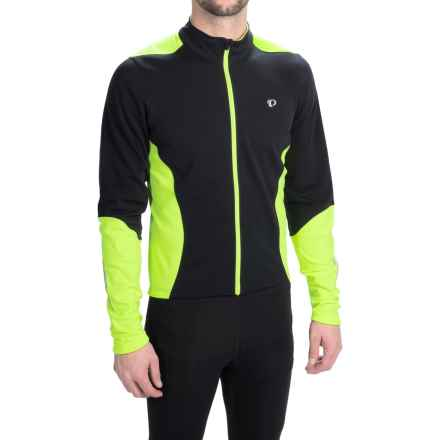 Pearl Izumi SELECT Thermal Cycling Jersey - Long Sleeve (For Men) in Black/Screaming Yellow - Closeouts