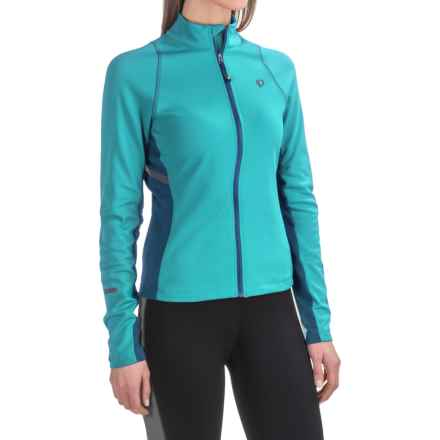 Pearl Izumi SELECT Thermal Escape Cycling Jersey - Full Zip, Long Sleeve (For Women) in Pagoda Blue/Moroccan Blue - Closeouts