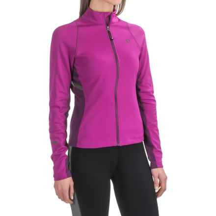Pearl Izumi SELECT Thermal Escape Cycling Jersey - Full Zip, Long Sleeve (For Women) in Purple Wine/Wineberry - Closeouts