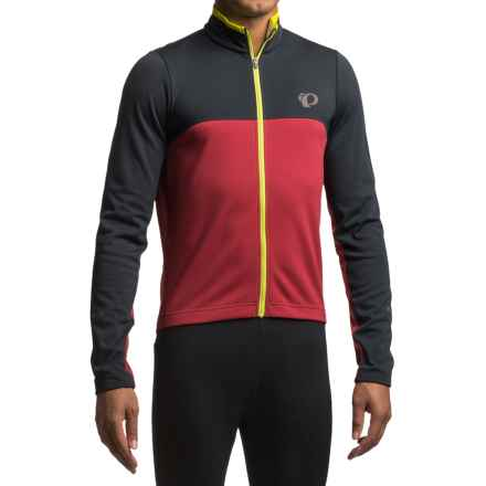 Pearl Izumi SELECT Thermal Fleece Jersey - Long Sleeve (For Men) in Black/Tibetan Red - Closeouts