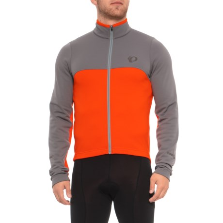 Pearl Izumi SELECT Thermal Fleece Jersey - Long Sleeve (For Men) in Smoked Pearl/ Orange.Com