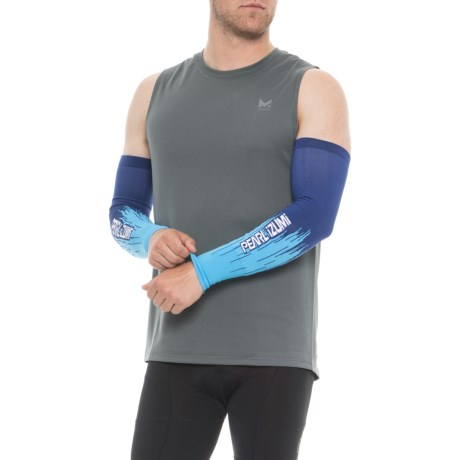 Pearl Izumi SELECT Thermal Lite Arm Warmers - Pair in Bel Air Blue Streamline