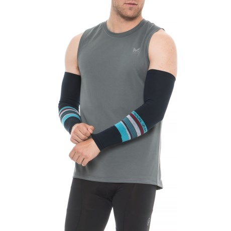 Pearl Izumi SELECT Thermal Lite Arm Warmers - Pair in Drift Eclipse Blue