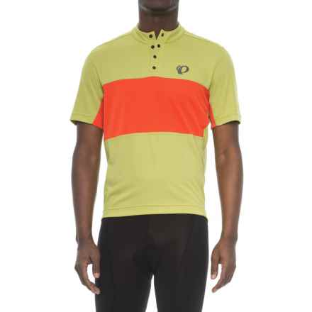 Pearl Izumi Select Tour Cycling Jersey - Snap Neck, Short Sleeve (For Men) in Citron / Orange.Com - Closeouts