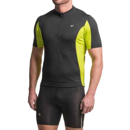 Pearl Izumi SELECT Tour Cycling Jersey - Zip Neck, Short Sleeve (For Men) in Black/Lime Punch - Closeouts
