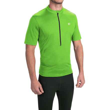 Pearl Izumi SELECT Tour Cycling Jersey - Zip Neck, Short Sleeve (For Men) in Green Flash 15 - Closeouts