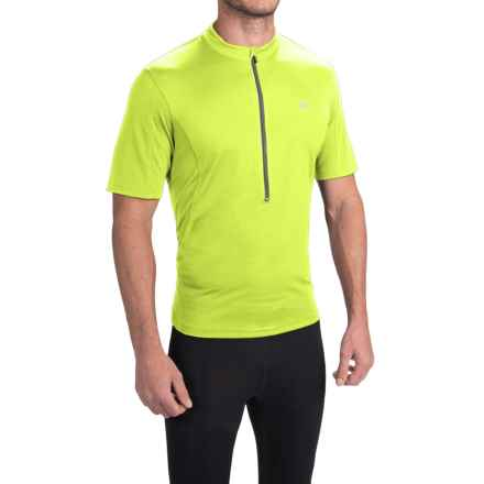 Pearl Izumi SELECT Tour Cycling Jersey - Zip Neck, Short Sleeve (For Men) in Screaming Yellow - Closeouts