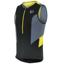Pearl Izumi SELECT Tri Relaxed Jersey - UPF 50, Sleeveless (For Men) in Black/Stormy - Closeouts
