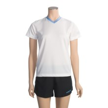 Pearl Izumi Sensor Run T-Shirt - Short Sleeve (For Women) in White/Horizon Blue - Closeouts